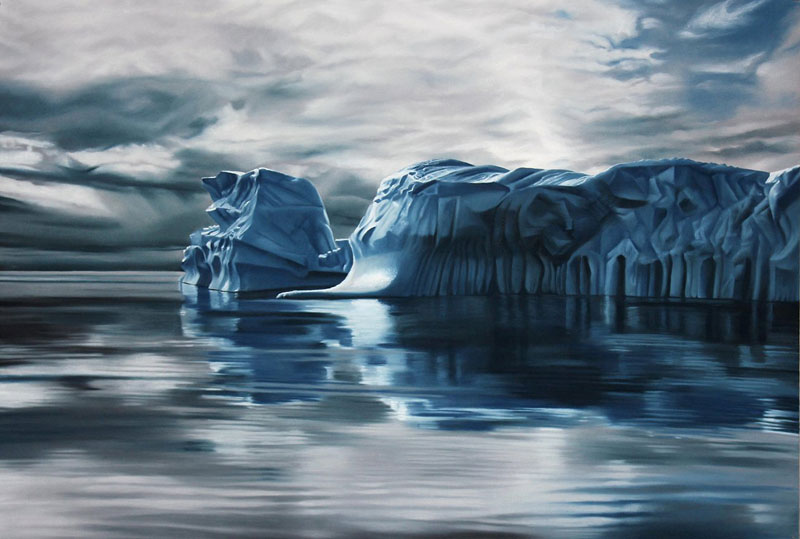 pastel drawings of icebergs by zaria forman (3)