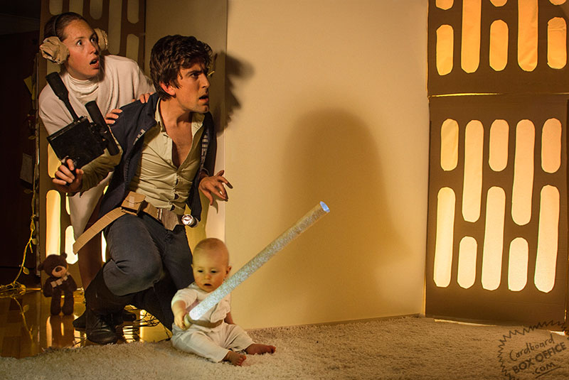starwars parents recreate movie scenes with baby son and cardboard Dad Illustrates the Darndest Things Hes Ever Said to His Kids