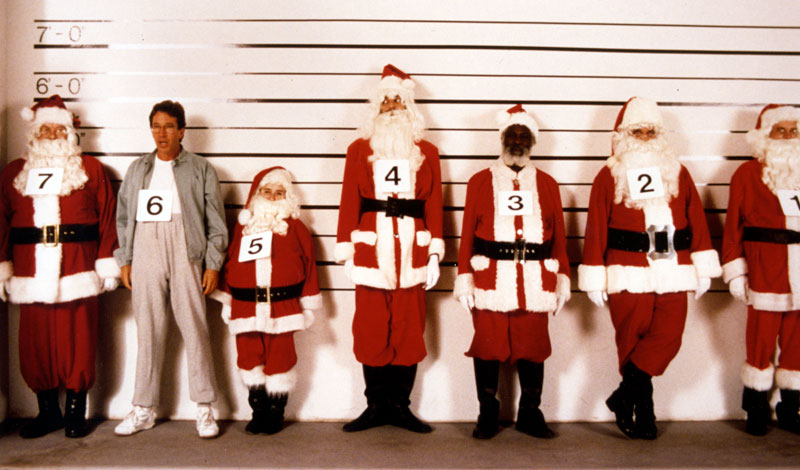 tim allen the santa clause police lineup 10 Things You Never Knew about 10 Famous Christmas Movies