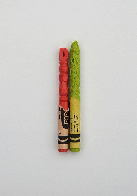 alphabet carved into crayons by diem chau (2)