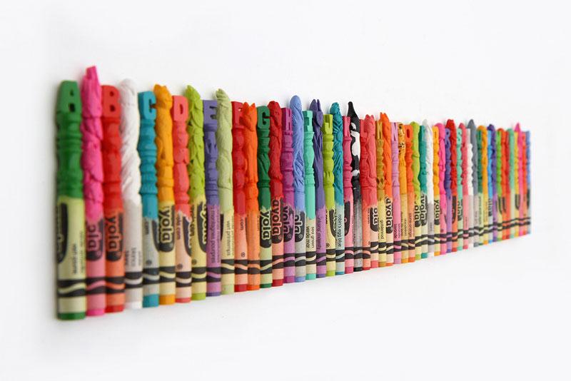 alphabet carved into crayons by diem chau (9)