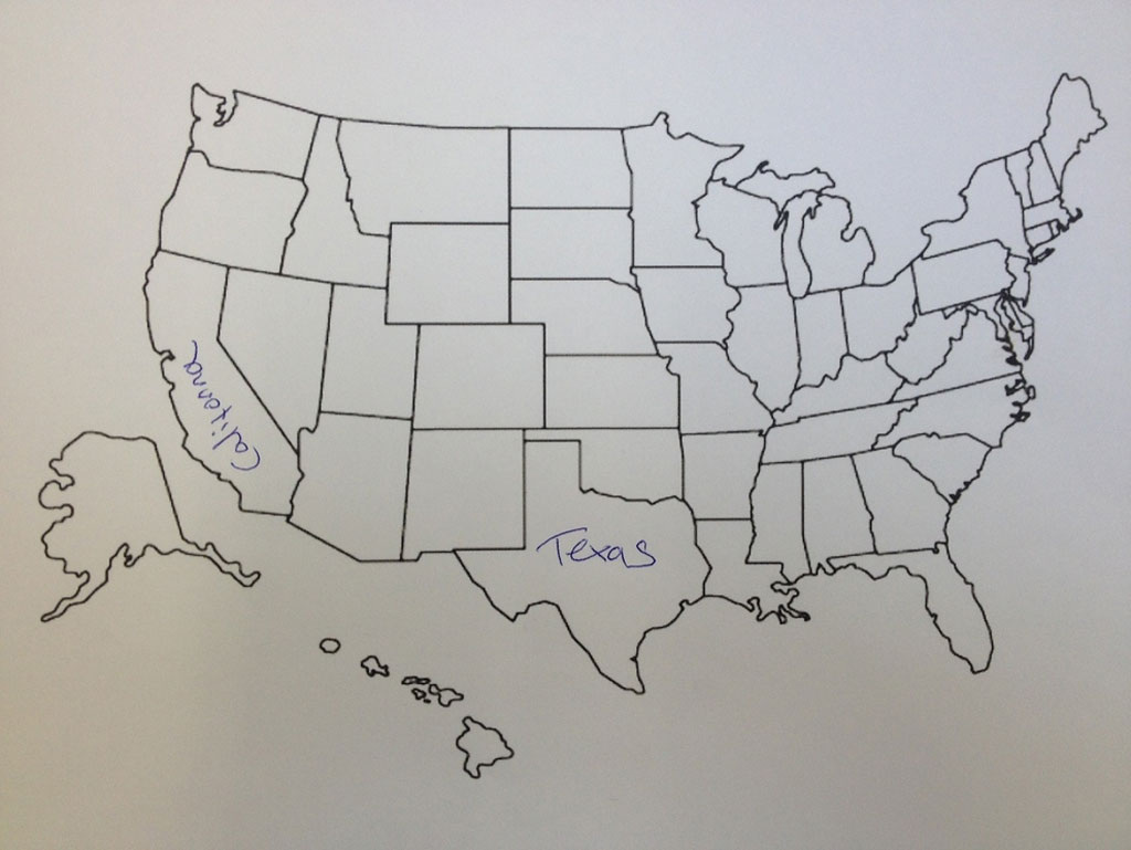 british students asked to label a map of the united states (10)