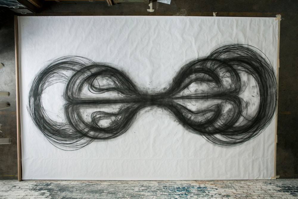 Heather Hansen Uses Entire Body to Create Larger than Life Charcoal Drawings (2)