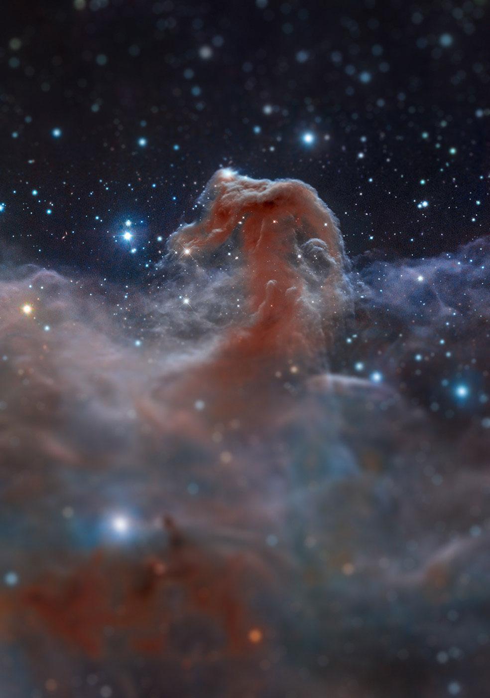horsehead nebula tilt shift miniaturized