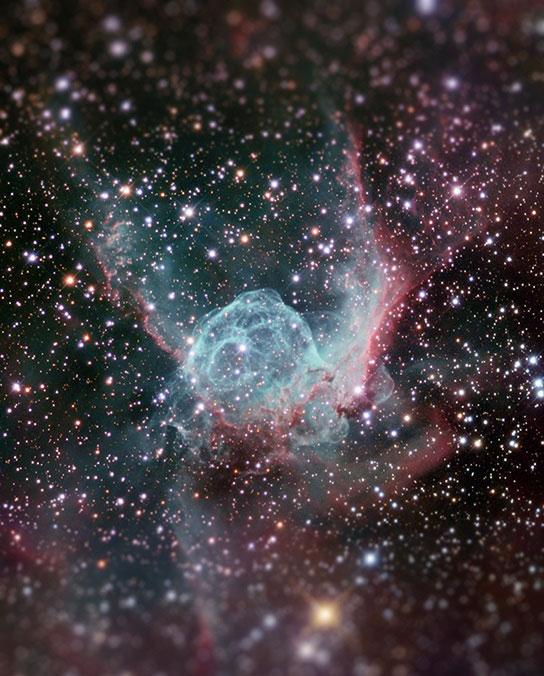 thor's helmet nebula tilt shift miniaturized