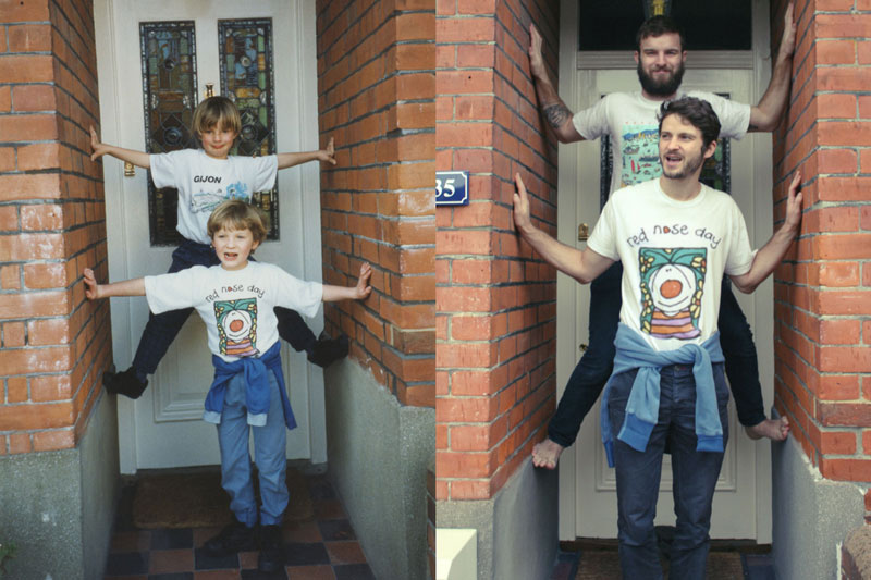 two brothers recreate childhood photos joe luxton (6)