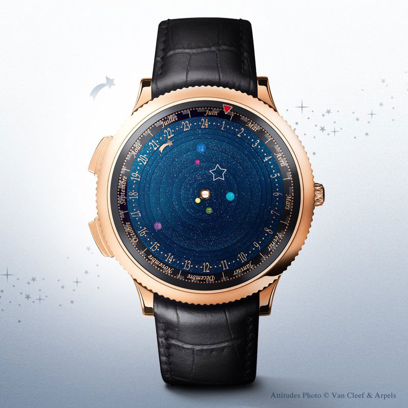 wristwatch shows solar system planets orbiting around the sun (4)