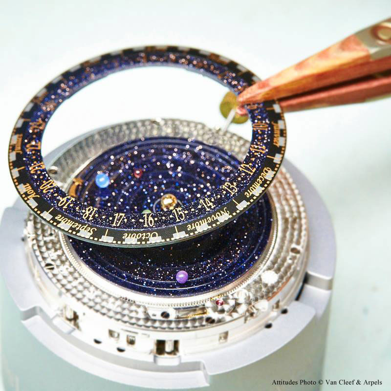 wristwatch shows solar system planets orbiting around the sun (8)