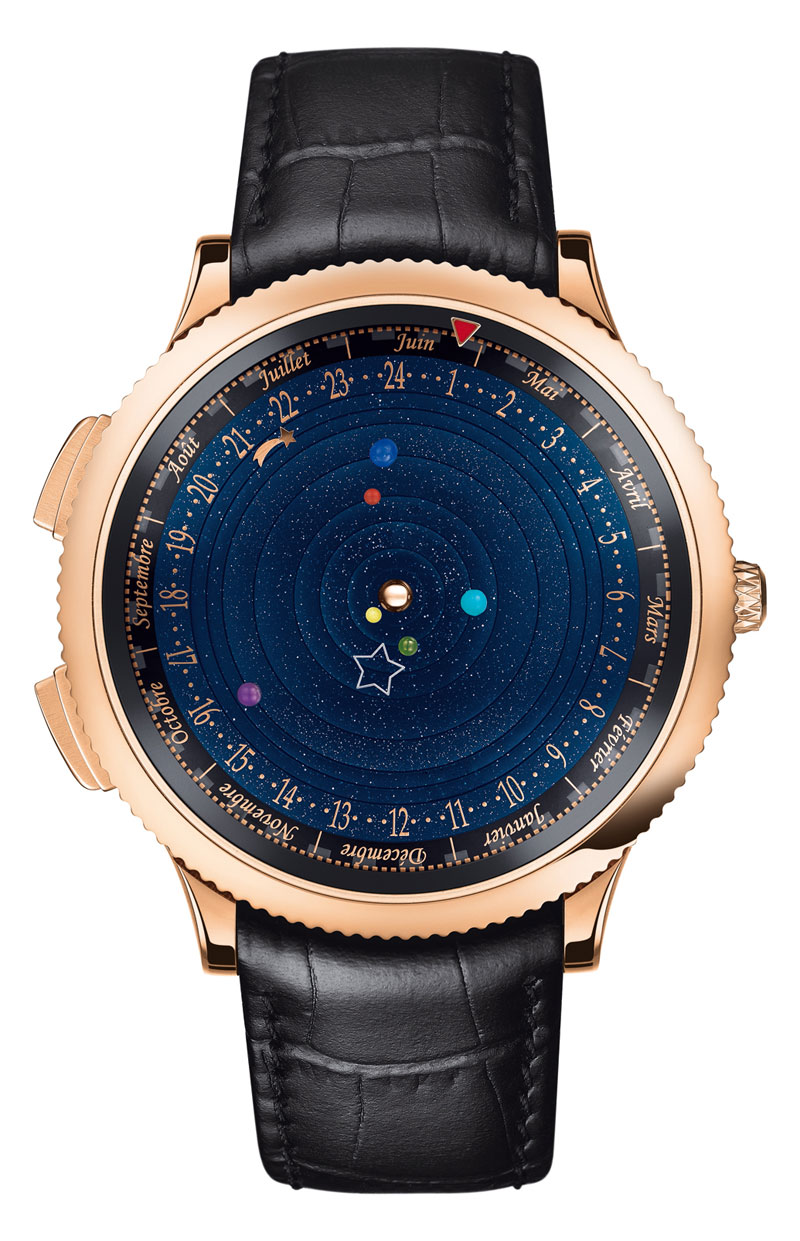 wristwatch shows solar system planets orbiting around the sun (9)