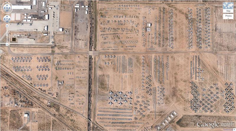 airplane boneyard tucson arizona google earth The Sifters Most Popular Posts of 2014