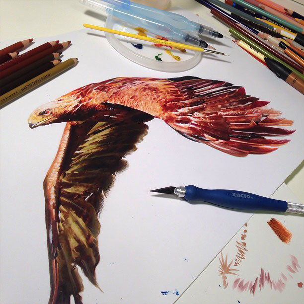 artworks surrounded by tools used to create them by karla mialynne (13)