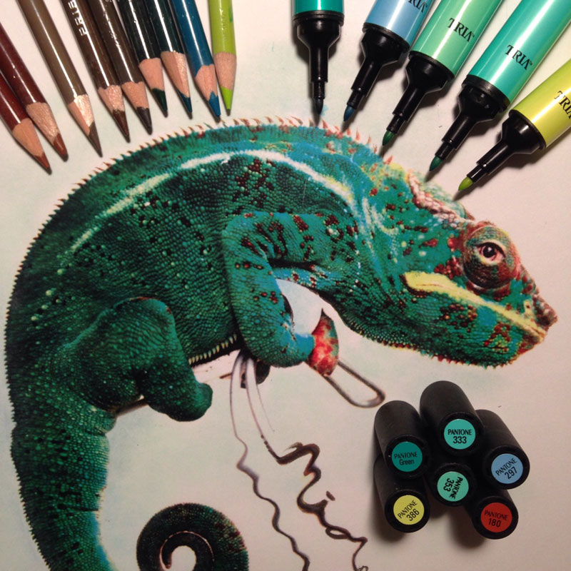 artworks surrounded by tools used to create them by karla mialynne (14)