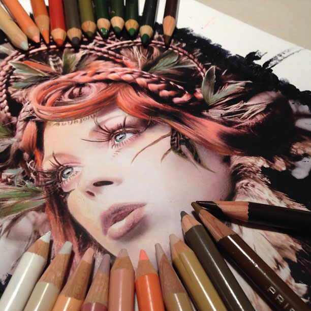 artworks surrounded by tools used to create them by karla mialynne (5)