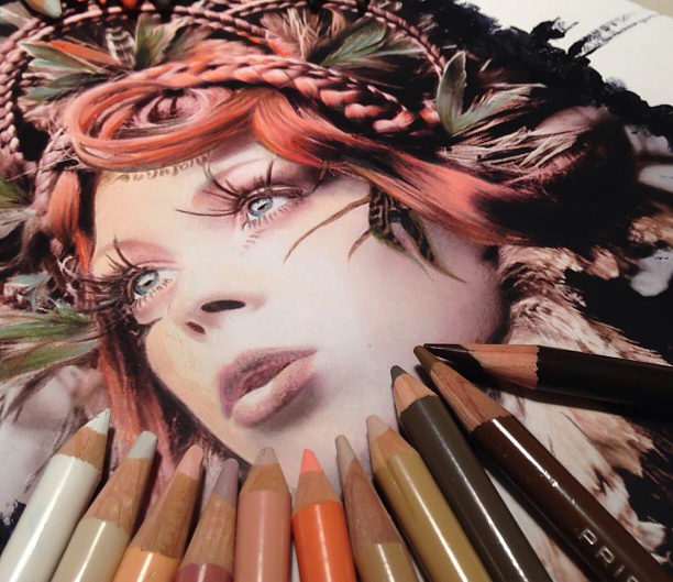 Hyperrealistic Artworks Surrounded by the Supplies Used to Create Them