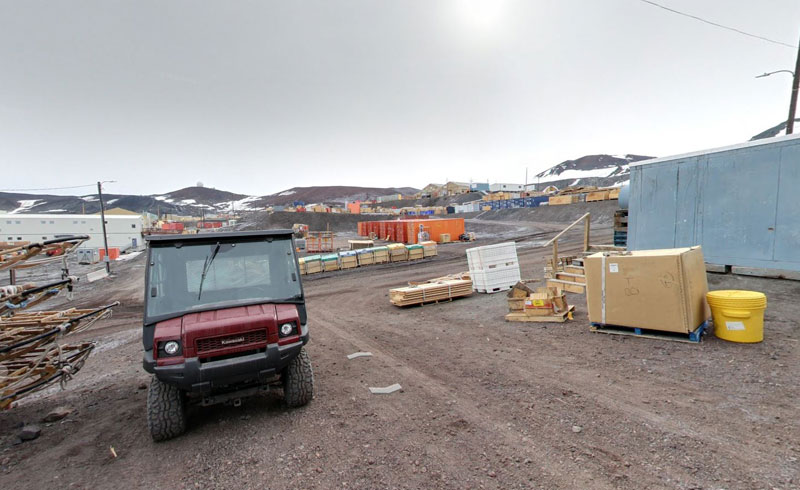 berg field center Exploring Antarctica with Google Street View