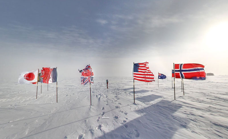 ceremonial south pole 2 Exploring Antarctica with Google Street View