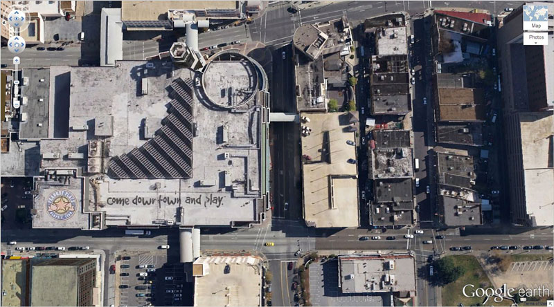 come-downtown and play google earth