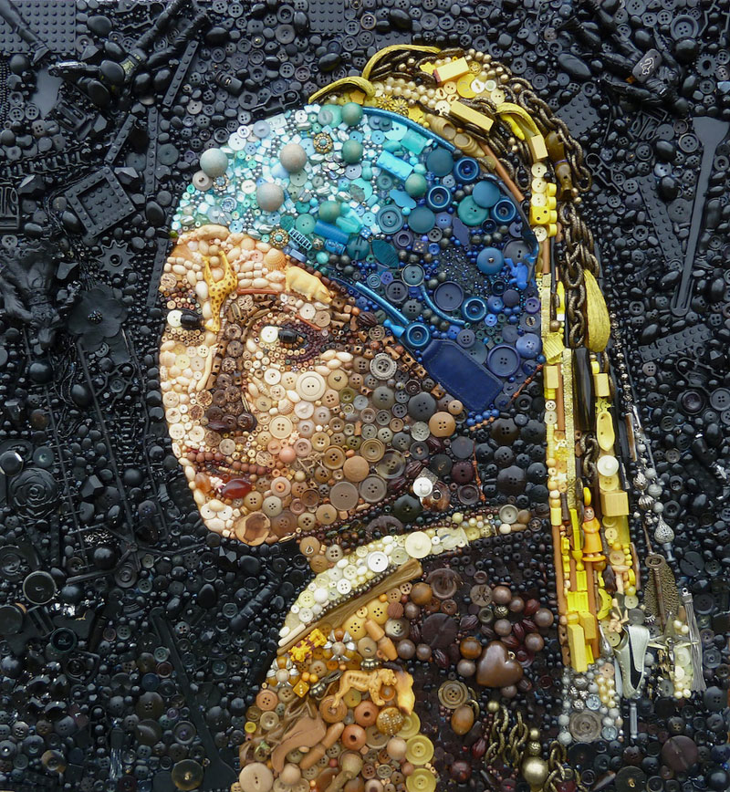 Famous Portraits Recreated from Recycled materials and found Objects by Jane Perkins  (1)