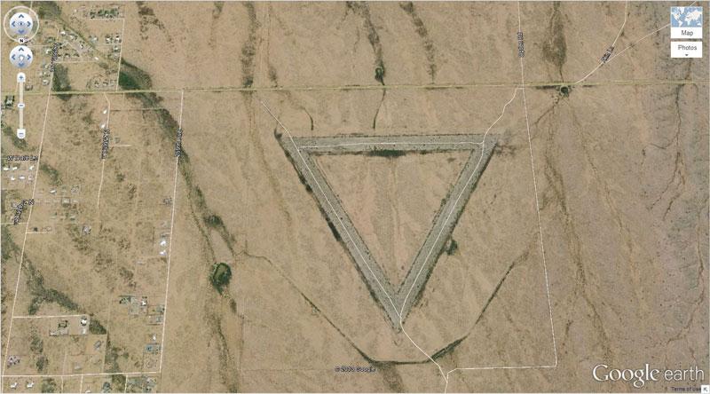 giant triangle google earth