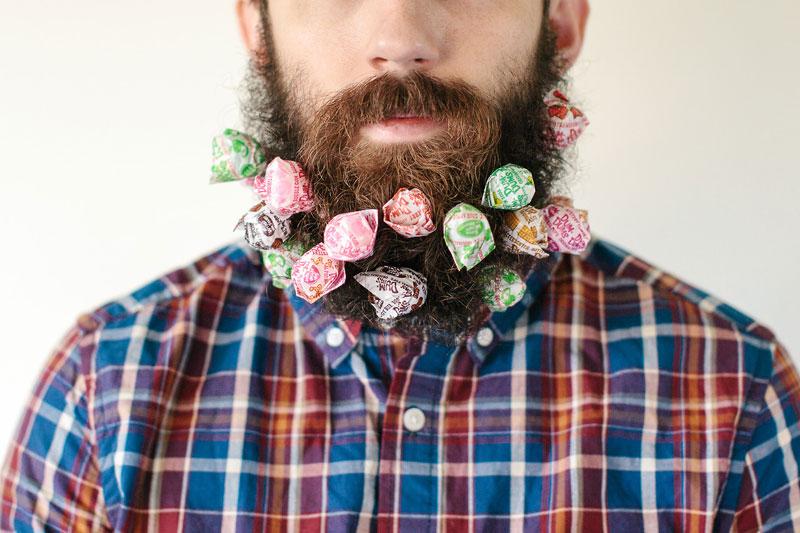 guy sticks random things in his beard instagram tumblr (2)