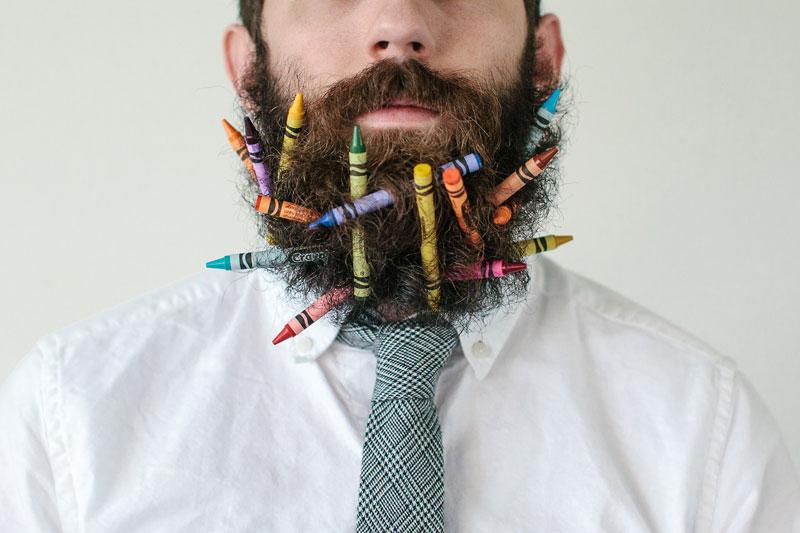 guy sticks random things in his beard instagram tumblr (8)