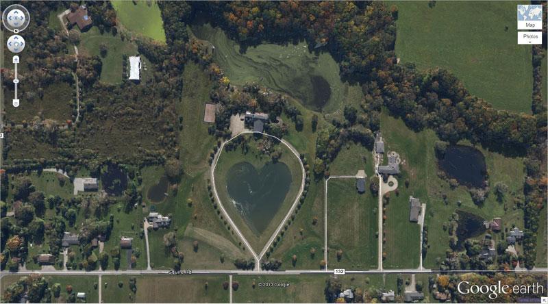 heart-shaped-lake-google earth