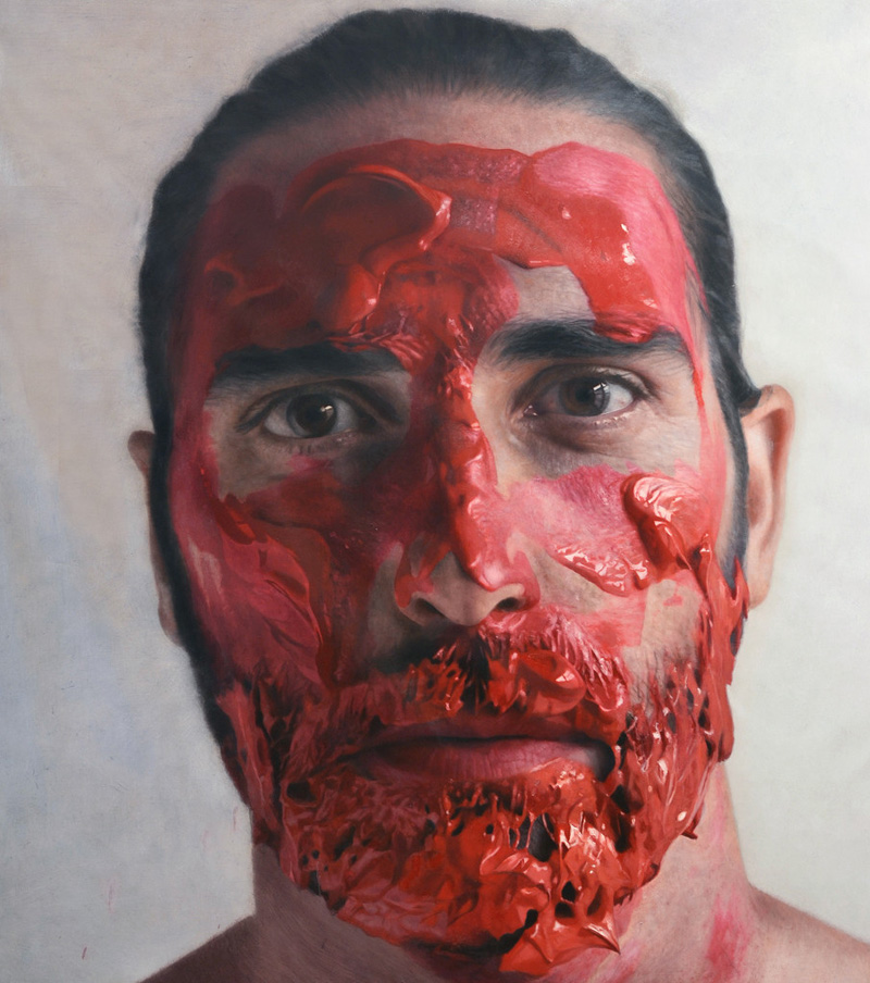 hyperrealistic self portraits paint on face by eloy morales (10)