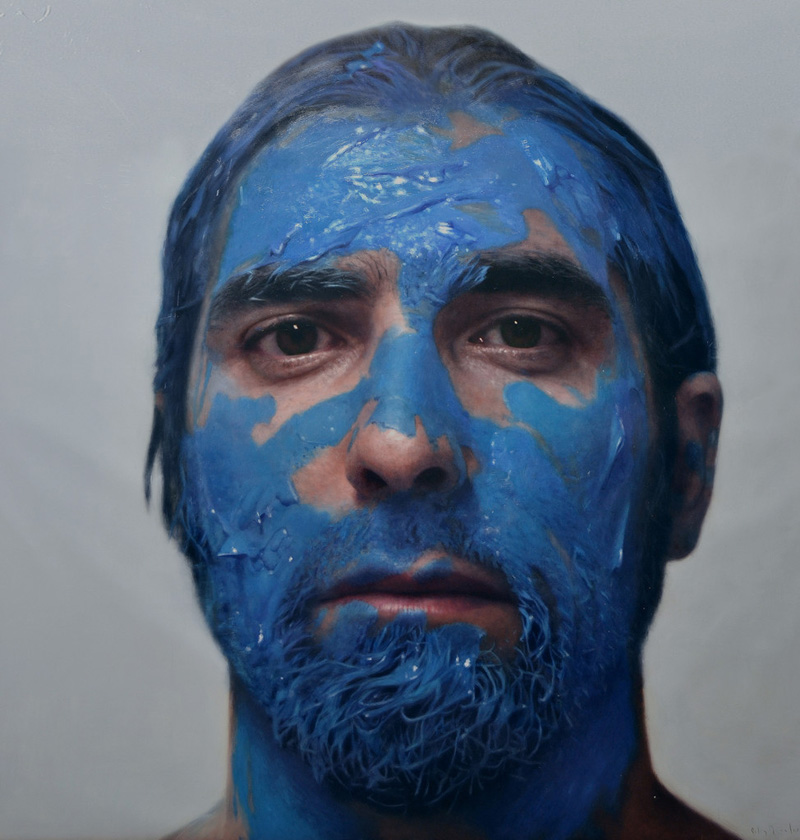hyperrealistic self portraits paint on face by eloy morales (9)