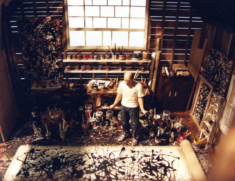 jackson pollock in studio miniature model diorama by joe fig The Incredible Dioramas of Satoshi Araki