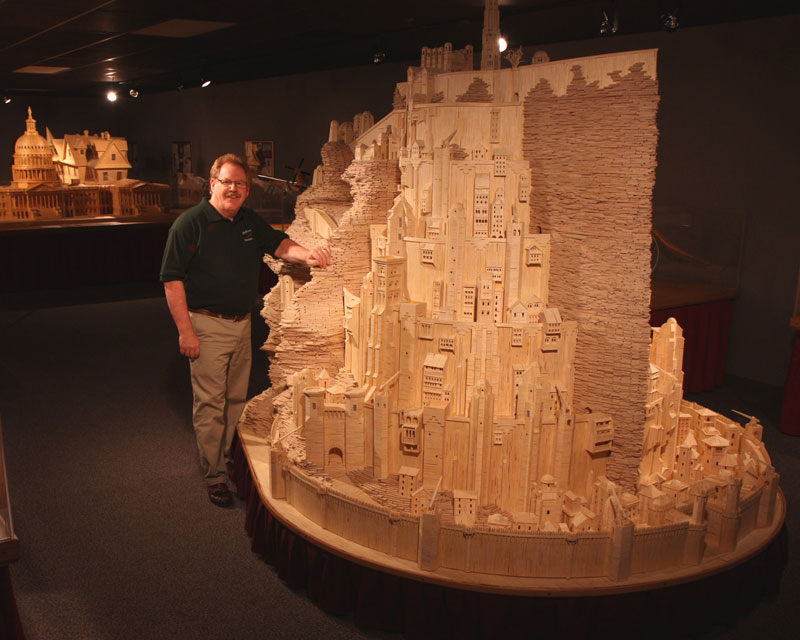minas tirith made from matchsticks by pat acton matchstick marvels (1)