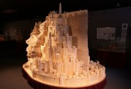 Minas Tirith Made From 420,000 Matchsticks
