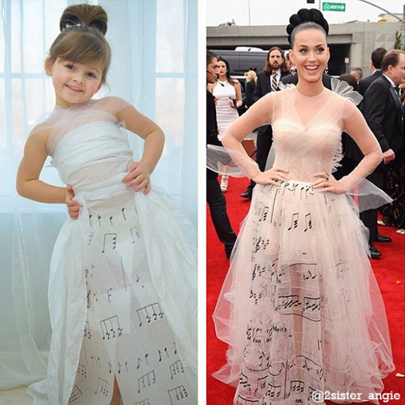 Mother and Daughter Recreate Paper Versions of Dresses Worn by Celebs (2)