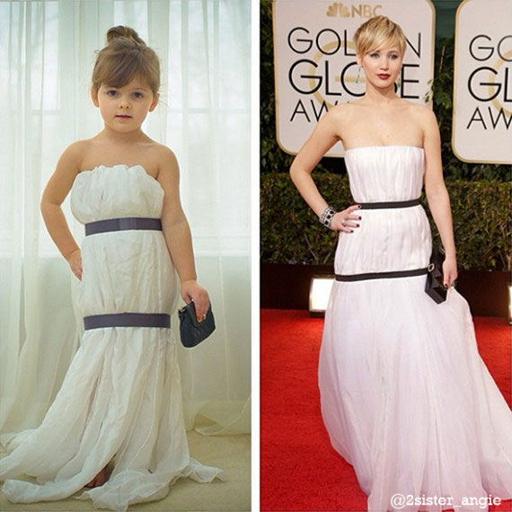 Mother and Daughter Recreate Paper Versions of Dresses Worn by Celebs (4)