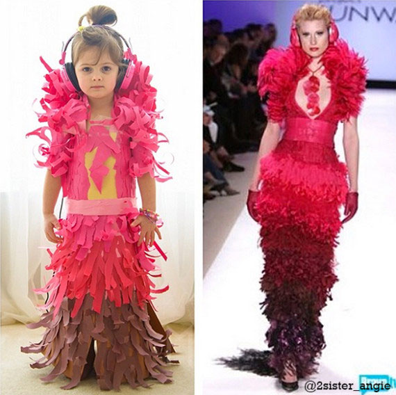 Mother and Daughter Recreate Paper Versions of Dresses Worn by Celebs (7)