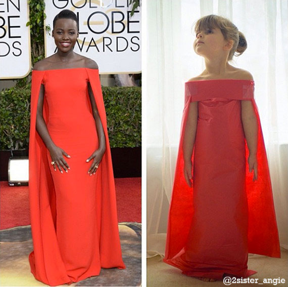 Mother and Daughter Recreate Paper Versions of Dresses Worn by Celebs (8)
