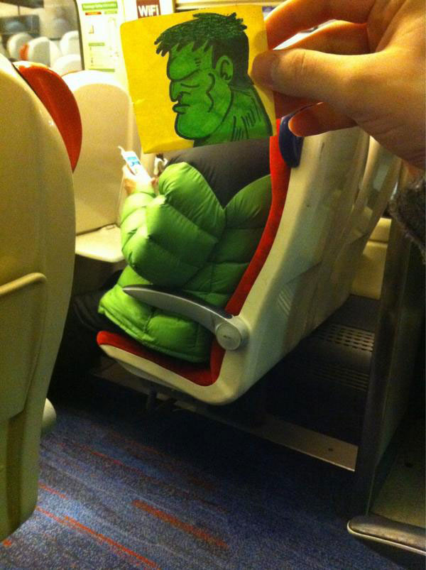 october jones gives people cartoon faces on train ride to work (10)