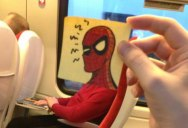This Guy Gives People Cartoon Faces on His Train Ride to Work