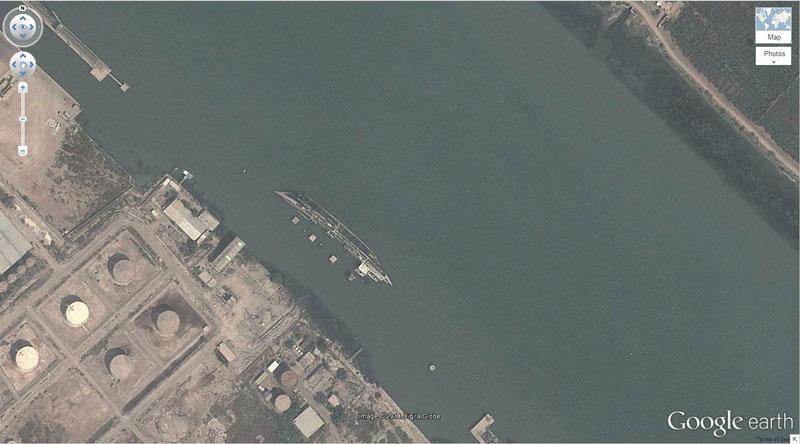 shipwreck iraq 50 Amazing Finds on Google Earth