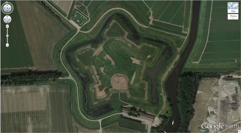 star-fort google earth
