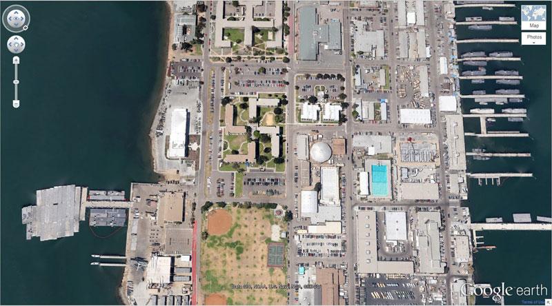 swastika shaped building coronado california google earth maps