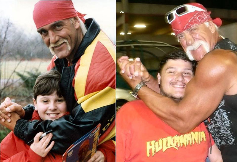 then and now recreate childhood photo hulk hogan Picture of the Day: This is How You Recreate a Childhood Pic Brother!