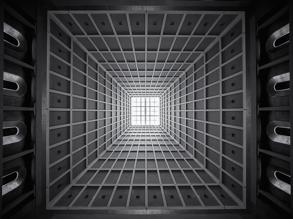 vaulted ceiling trippy shanghai mall china Picture of the Day: The Most Hypnotic Ceiling in Shanghai