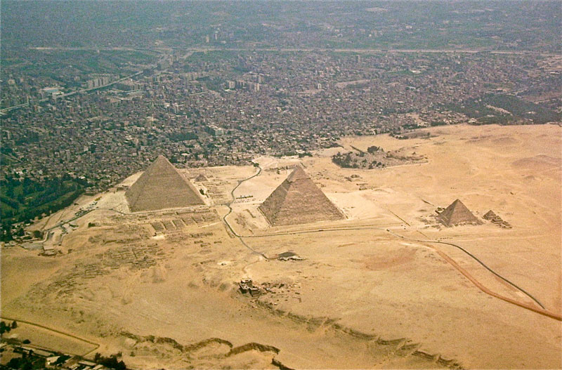 aerial view of pyramids of giza egypt density Picture of the Day: The Pyramids of Giza from KFC