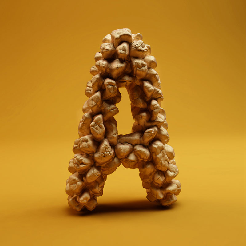 cgi sculpted alphabet by FOREAL (1)