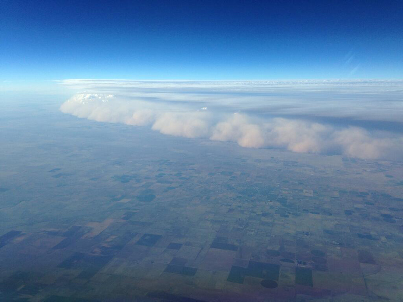 dust storm haboob from a plane nw of amarillo texas Picture of the Day: What a Dust Storm from a Plane Looks Like