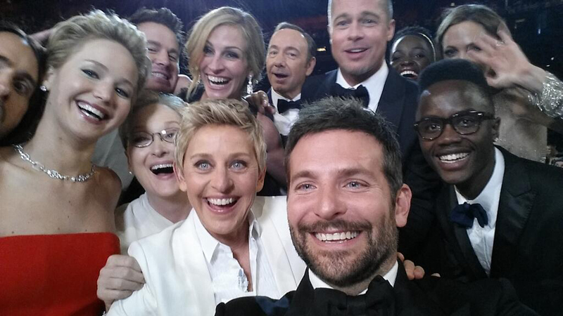 ellen degeneres selfie oscars 2014 most retweeted photo ever Picture of the Day: The Most Retweeted Photo of All Time