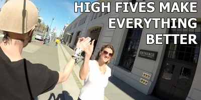 This Guy Made a High Five Camera Because High Fives Make Everything Better