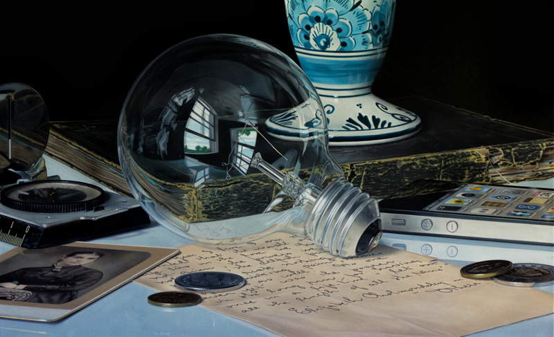 hyperrealistic still life paintings by jason de gaaf 2 Paintings within Paintings by Neil Simone