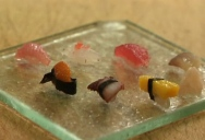 Miniature Sushi Made with a Single Grain of Rice