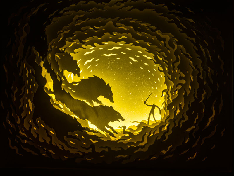 paper cut shadow boxes illuminated by light hari and deepti Paper Cut Shadow Boxes Illuminated by Light